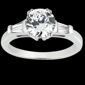 1.91 Carat Three Stone Style Engagement Ring